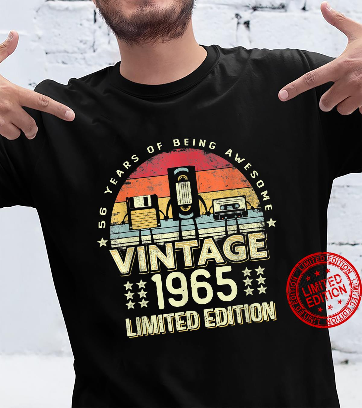 Best For 56 Year Old, Vintage 1965 56Th Birthday Shirt