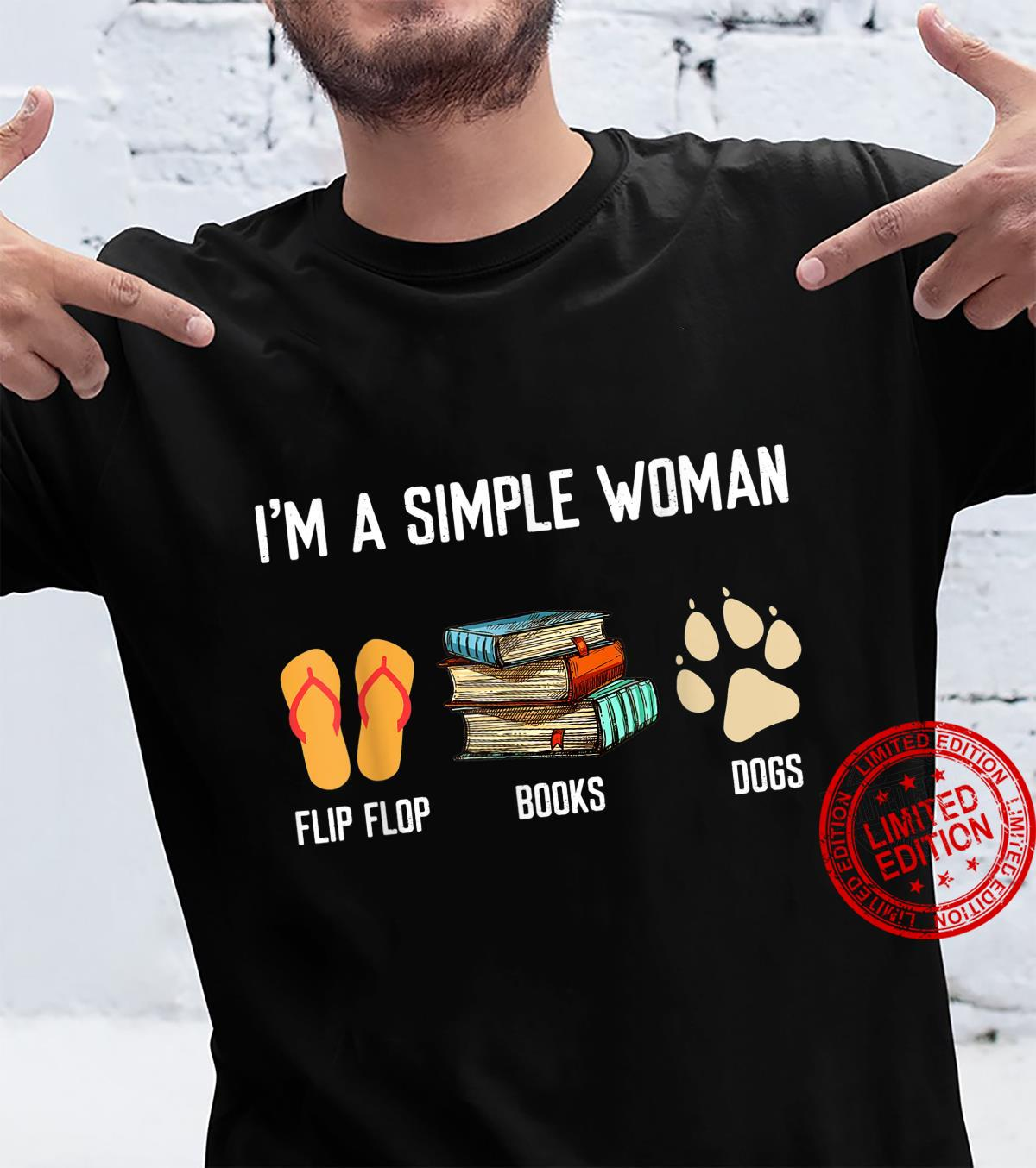 I'm A Simple Books & FlipFlop And Dog Paw Shirt