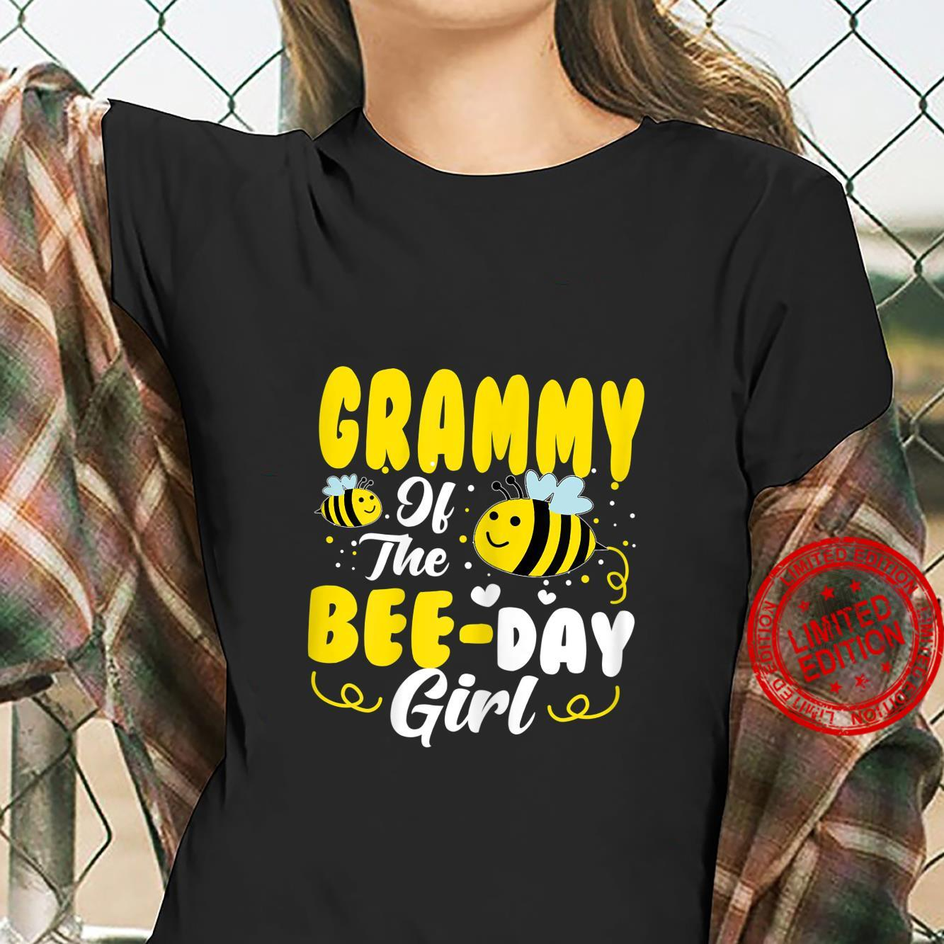Womens Grammy Of The Bee Day Girl Hive Party Matching Birthday Shirt ladies tee