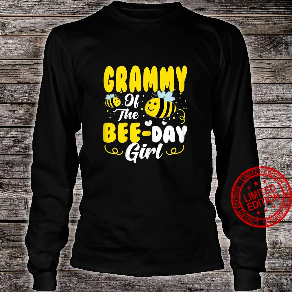 Womens Grammy Of The Bee Day Girl Hive Party Matching Birthday Shirt long sleeved