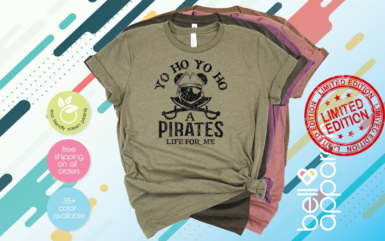 Yo Ho Yo Ho A Pirate's Life For Me, Mickey Pirate Shirt