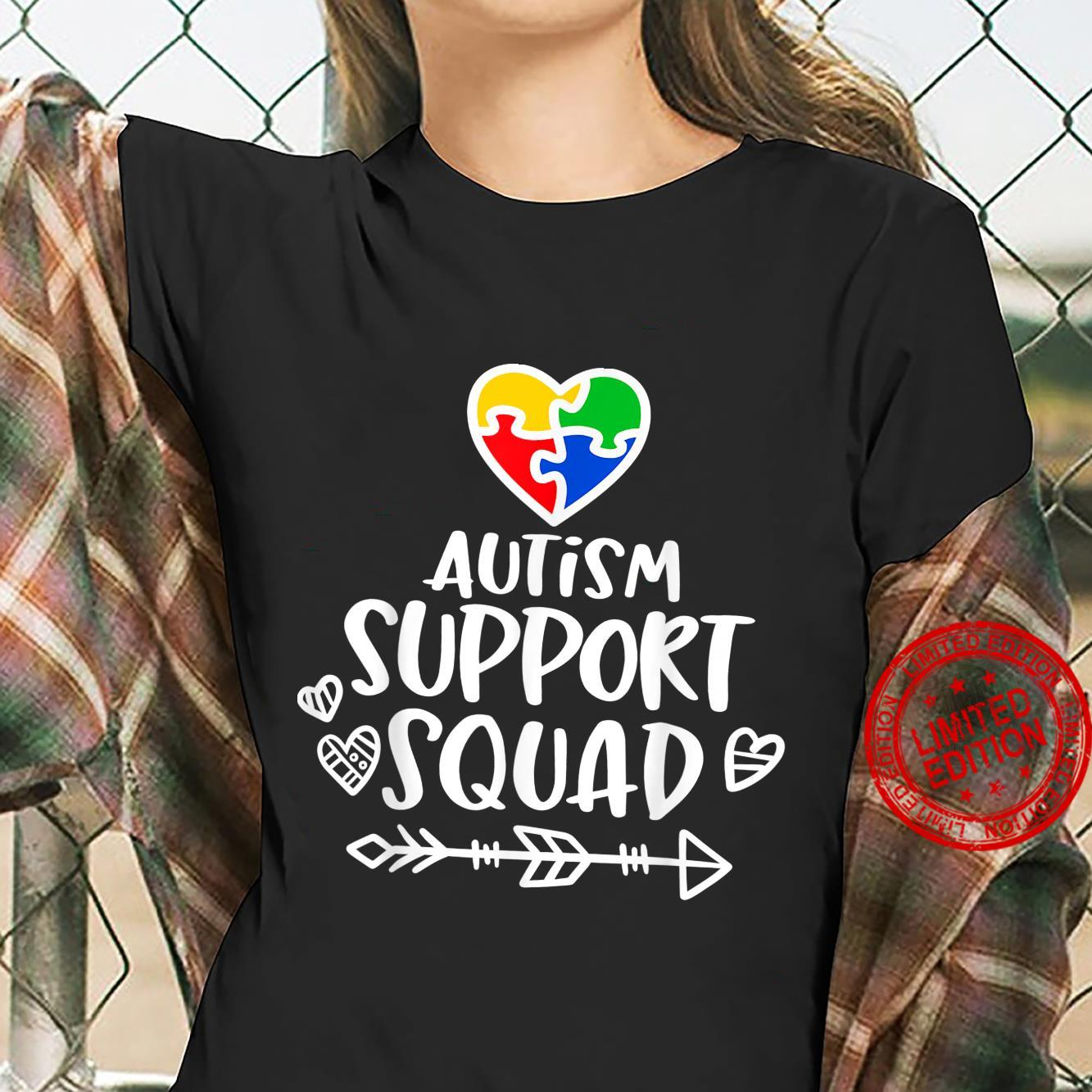 Autism Support Squad Family Matching Group Shirt ladies tee