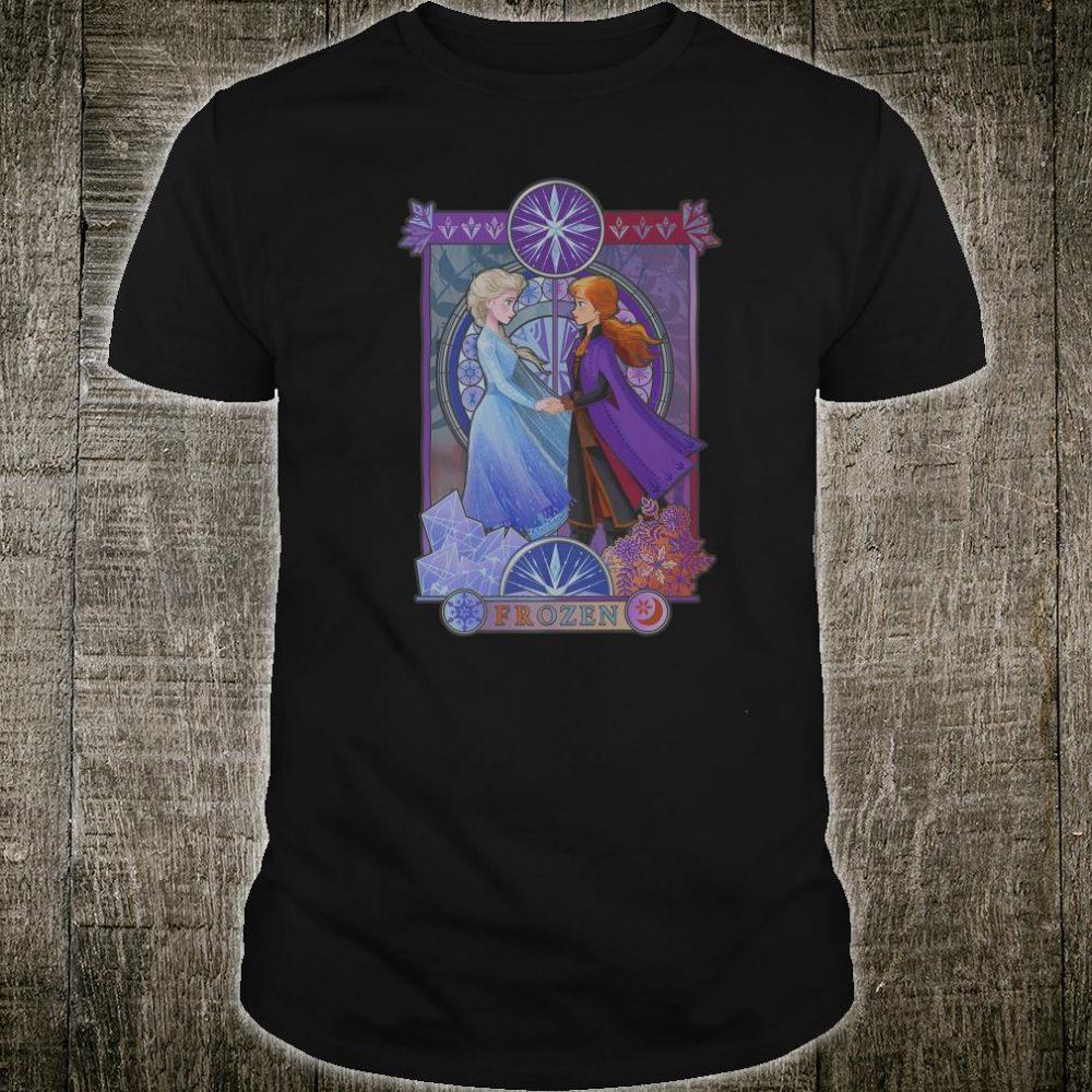 Disney Frozen 2 Elsa Anna Split Geometric Poster Shirt