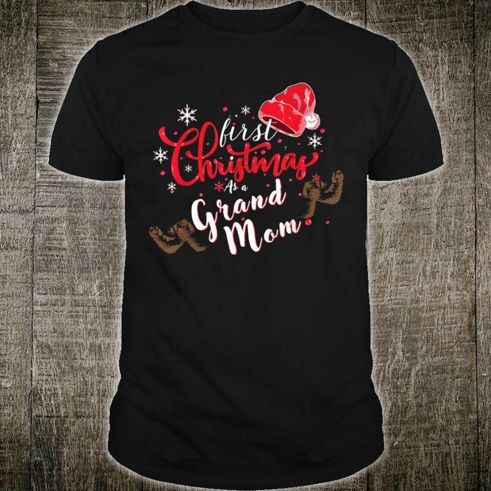 First Christmas As A Grand Mom Shirt