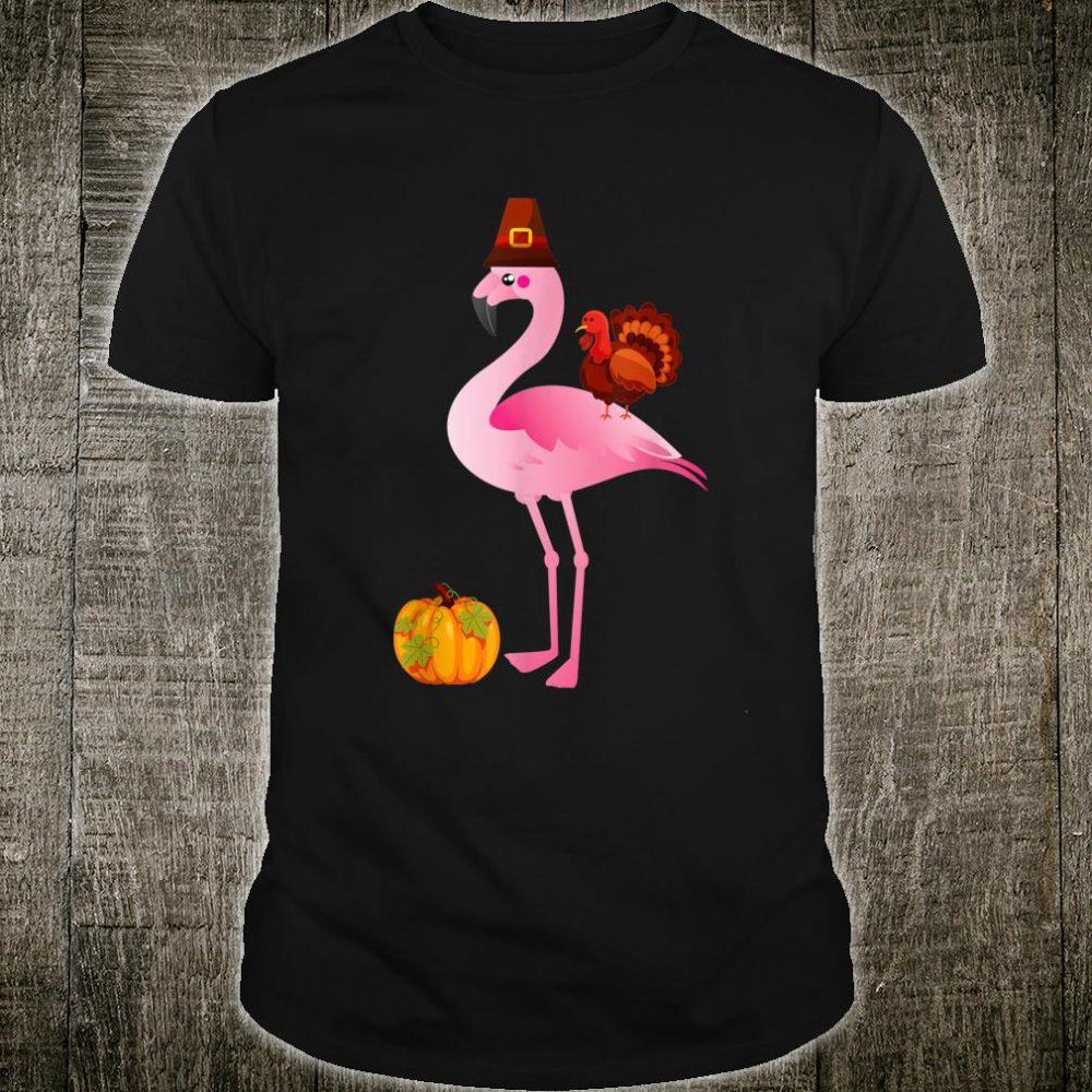Flamingo With Turkey Thanksgiving Shirt