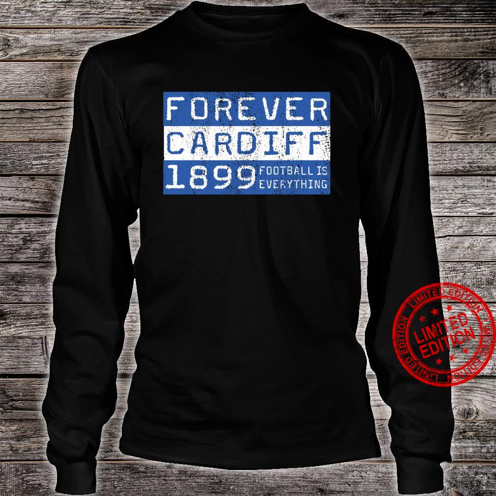 Football Is Everything City of Cardiff Forever 80s Retro Shirt long sleeved