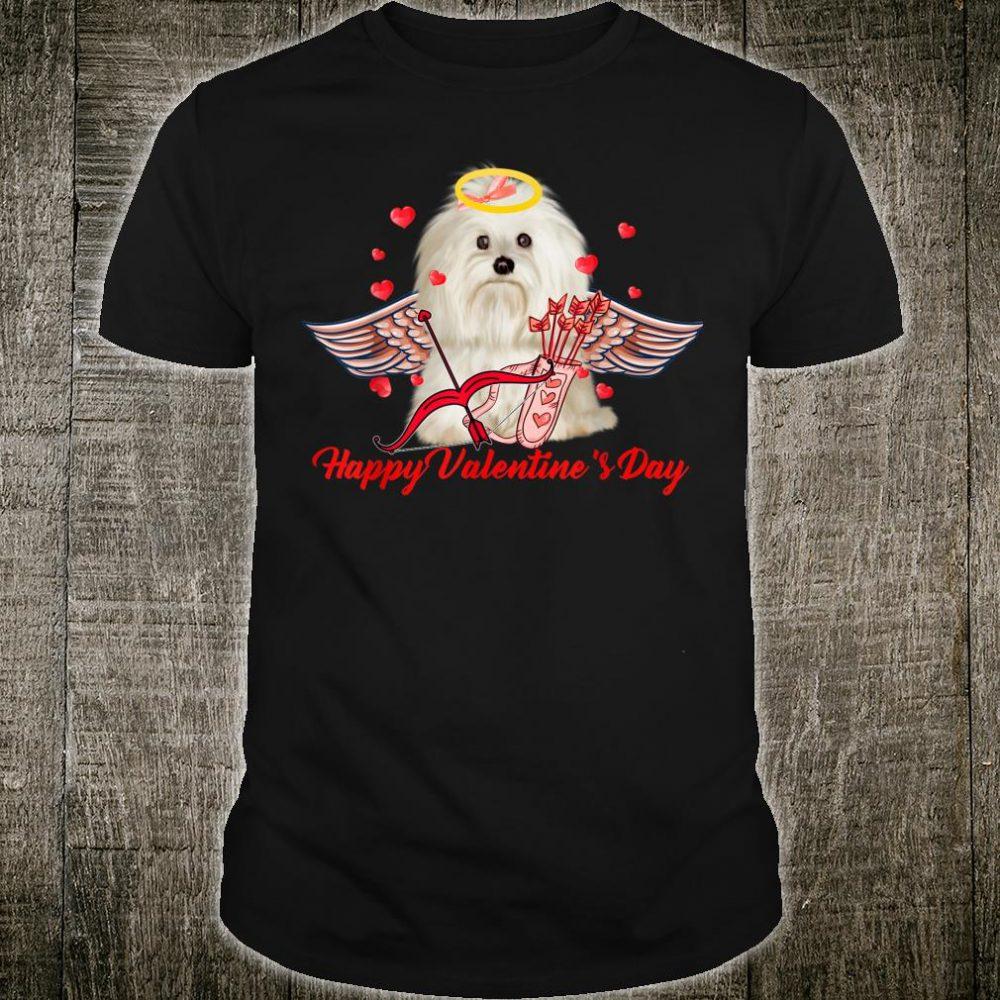 Happy Valentine's Day Cupid Pekingese Couple Shirt