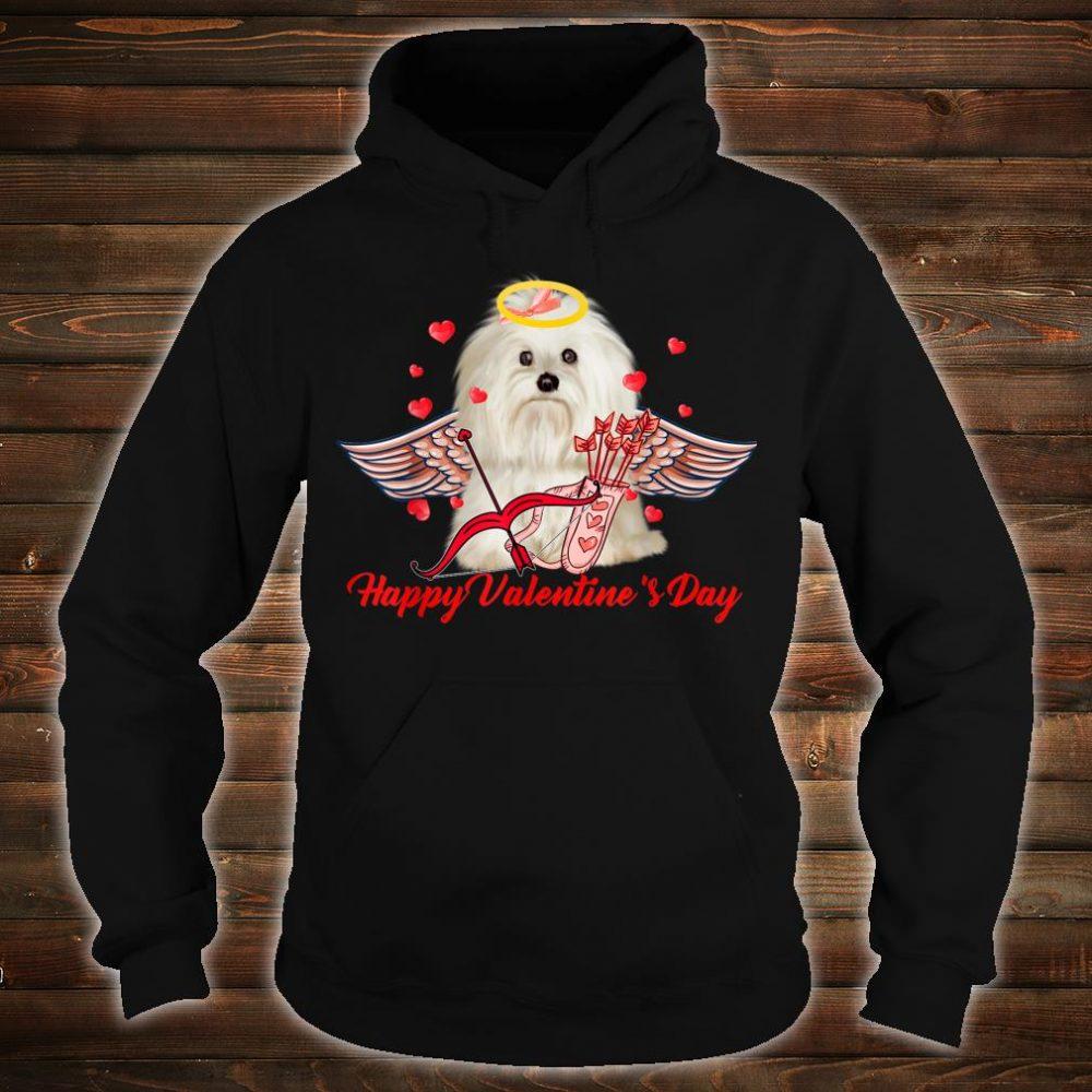 Happy Valentine's Day Cupid Pekingese Couple Shirt hoodie