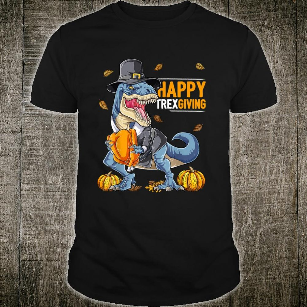 Happys Thanksgiving Turkey Saurus Rexs Dinosaurs Shirt