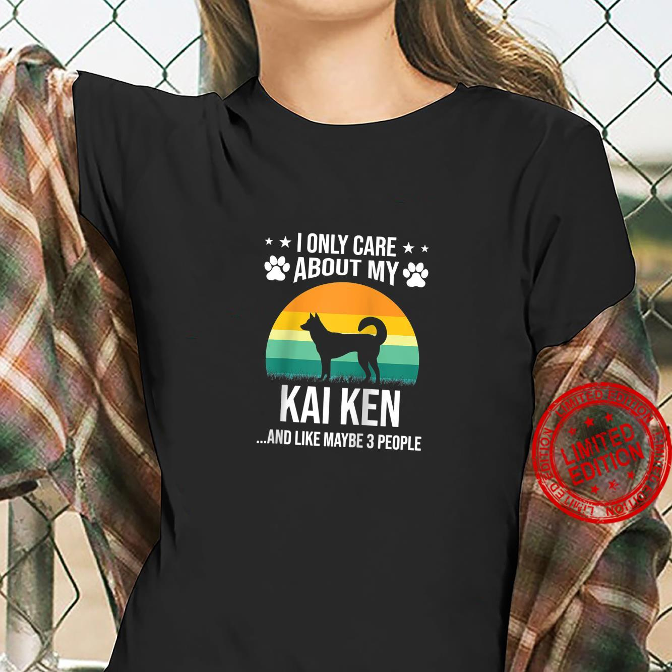 I Only Care About My Kai Ken Dog Shirt ladies tee