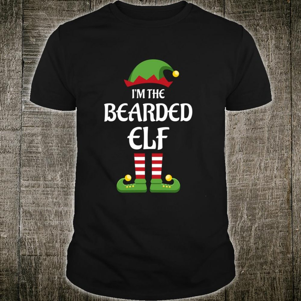 I'm The Bearded Elf Matching Family Christmas Beard Shirt