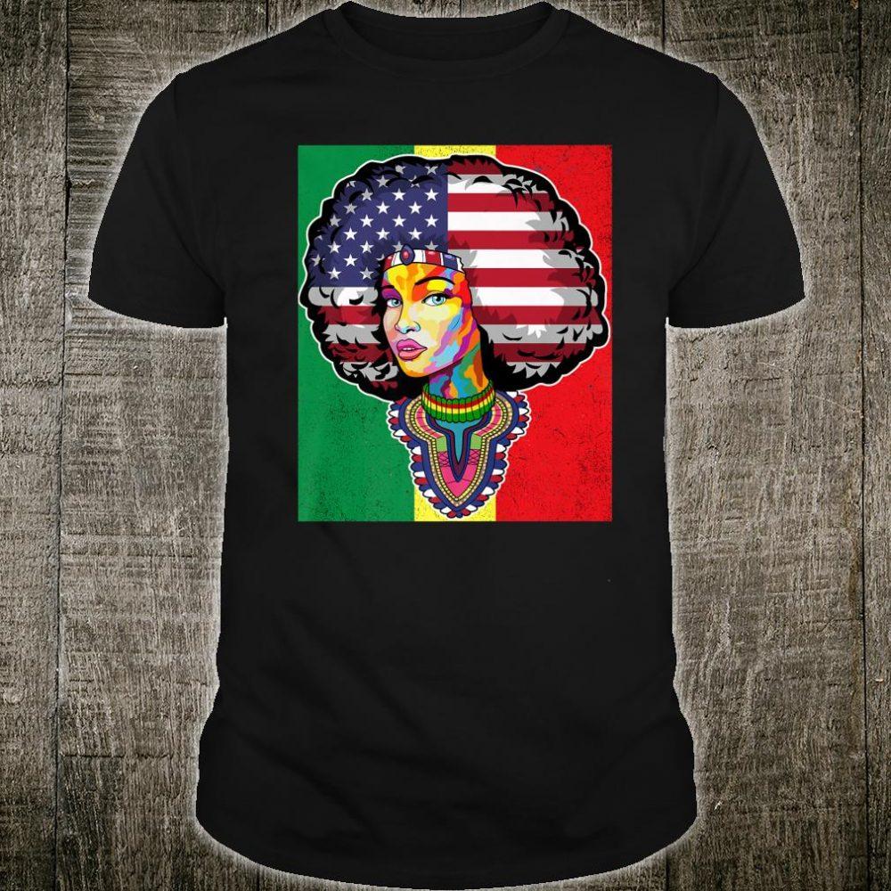 Junenth Dashiki American Flag Shirt