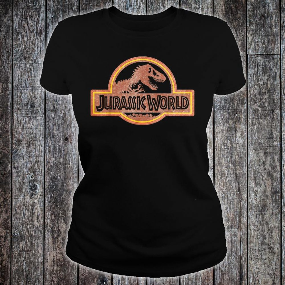 Jurassic World Retro Logo Shirt ladies tee