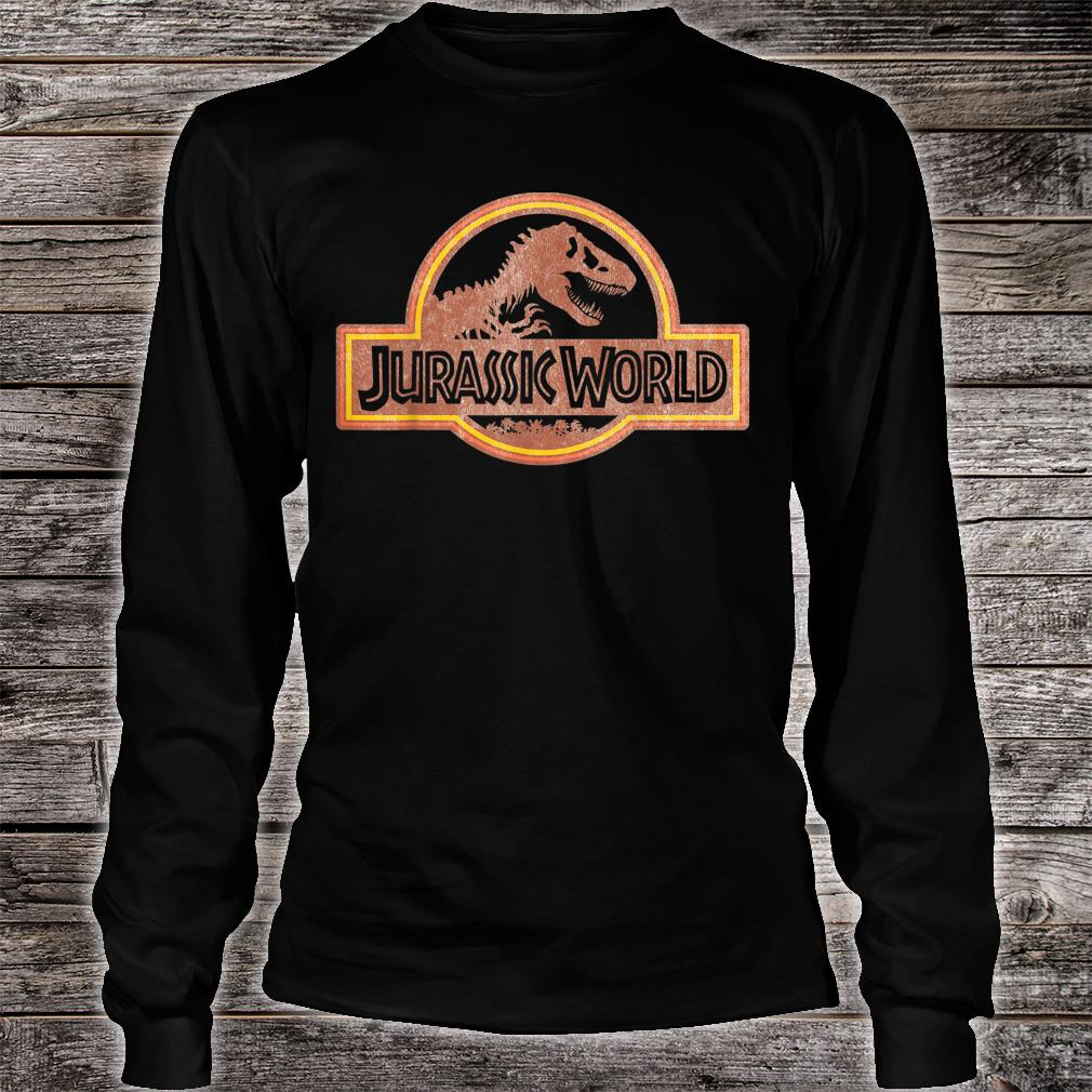 Jurassic World Retro Logo Shirt long sleeved