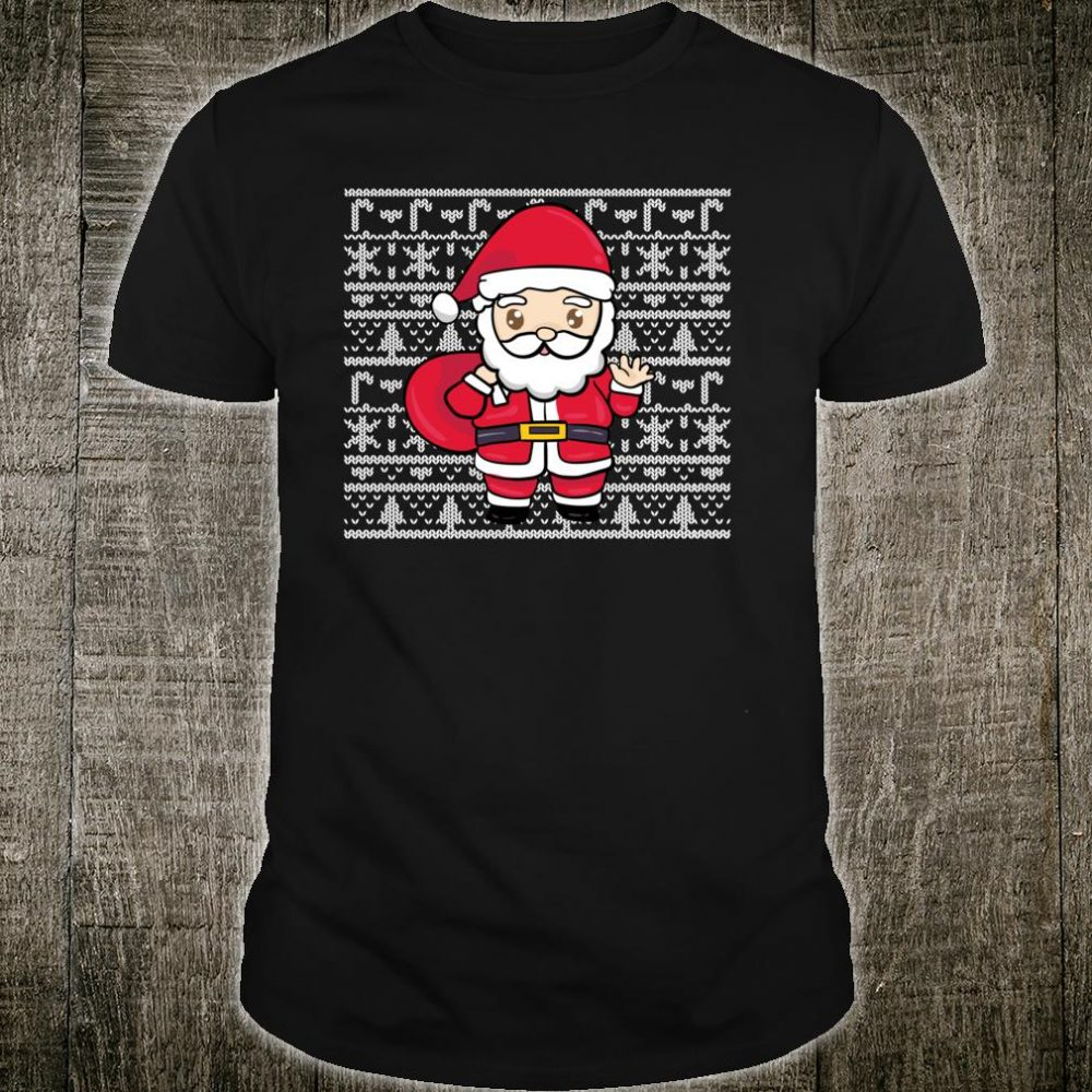 Kawaii Santa Magna Ugly Christmas Pattern Shirt