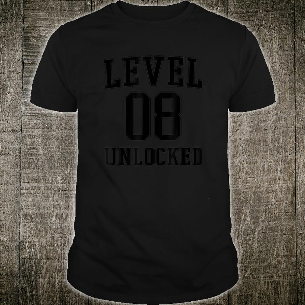 Level 8 Unlocked Eighth Birthday for 8 Year Old Gamer Shirt