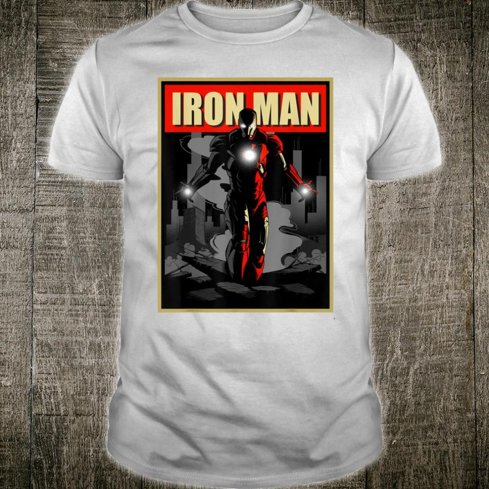 Marvel Iron Man Rise From The Ashes Deco Style Shirt