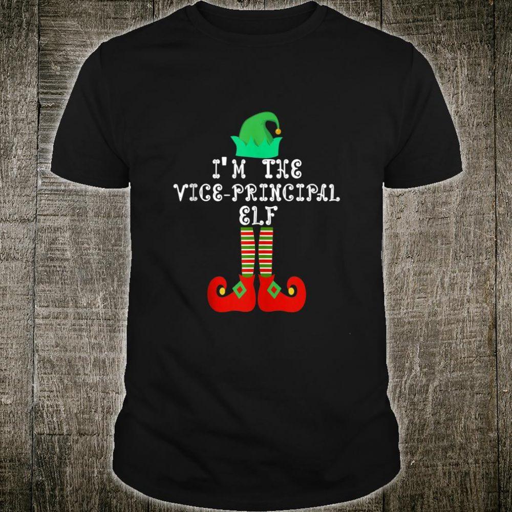 Matching Family Group Christmas I'm The Vice Principal Elf Shirt
