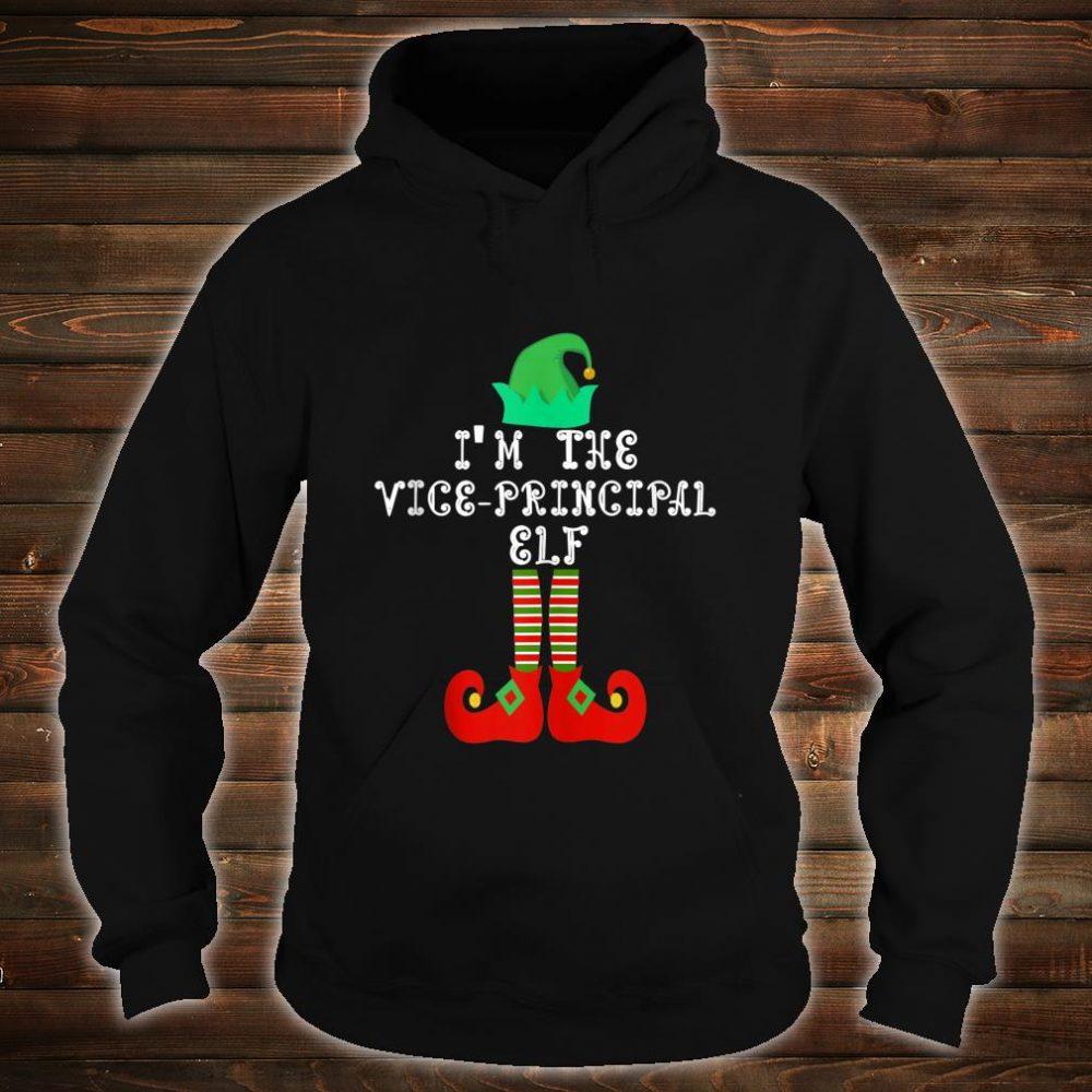 Matching Family Group Christmas I'm The Vice Principal Elf Shirt hoodie