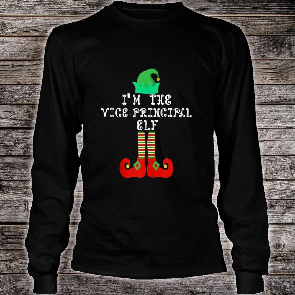 Matching Family Group Christmas I'm The Vice Principal Elf Shirt long sleeved