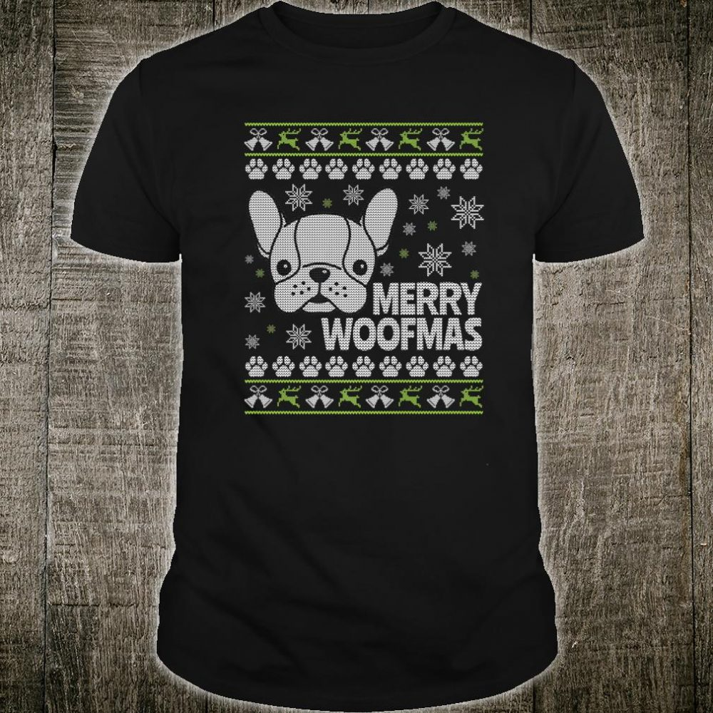 Mens French Bulldog Ugly Christmas Shirt