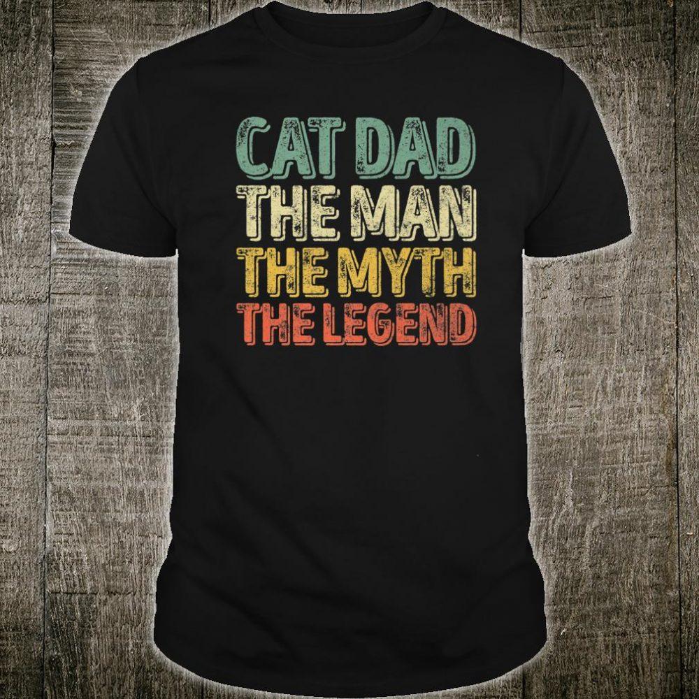Mens Perfect Xmas Papa Cat Dad The Man The Myth The Legend Shirt