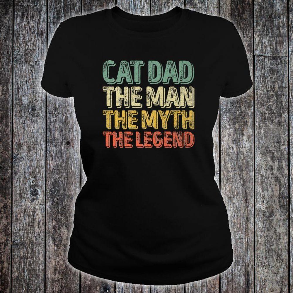 Mens Perfect Xmas Papa Cat Dad The Man The Myth The Legend Shirt ladies tee