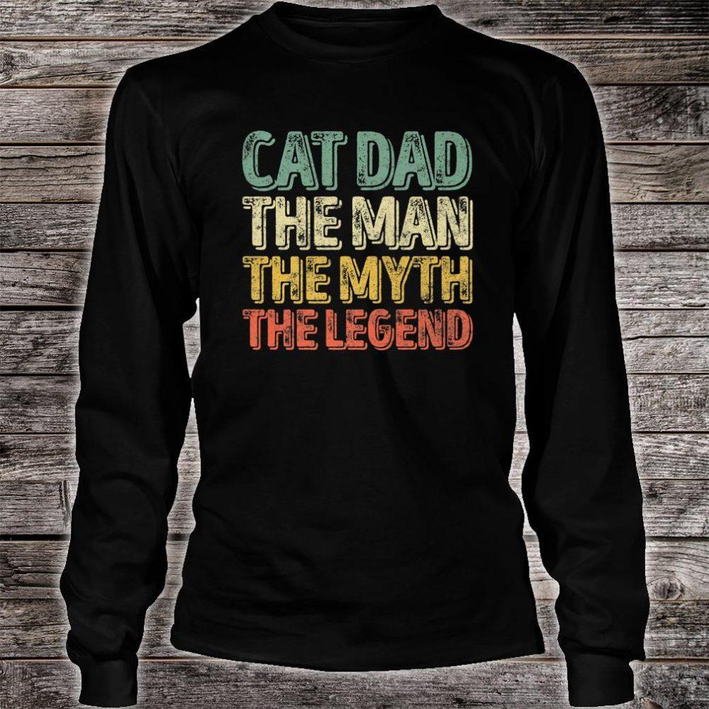 Mens Perfect Xmas Papa Cat Dad The Man The Myth The Legend Shirt long sleeved