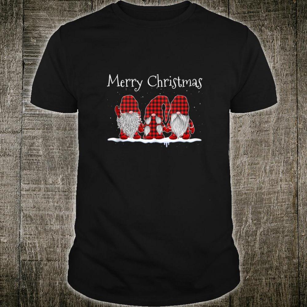 Merry Christmas Tree Gnomes For Christmas Red Plaid Shirt