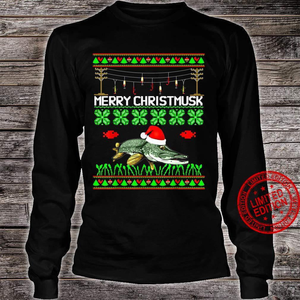 Merry Christmusk Musky Muskie Muskellunge Angler Esox fish Shirt long sleeved