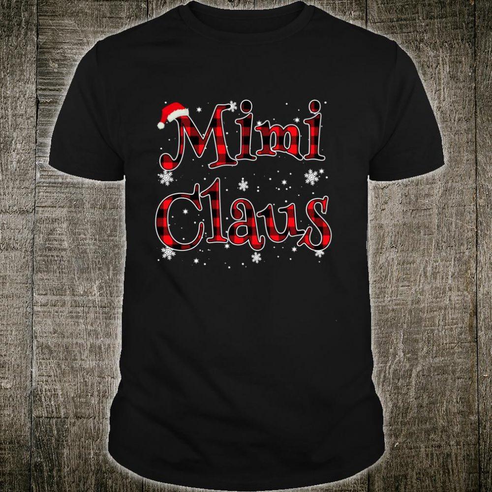 Mimi Claus Christmas Family Matching Buffalo Plaid Pajama Shirt