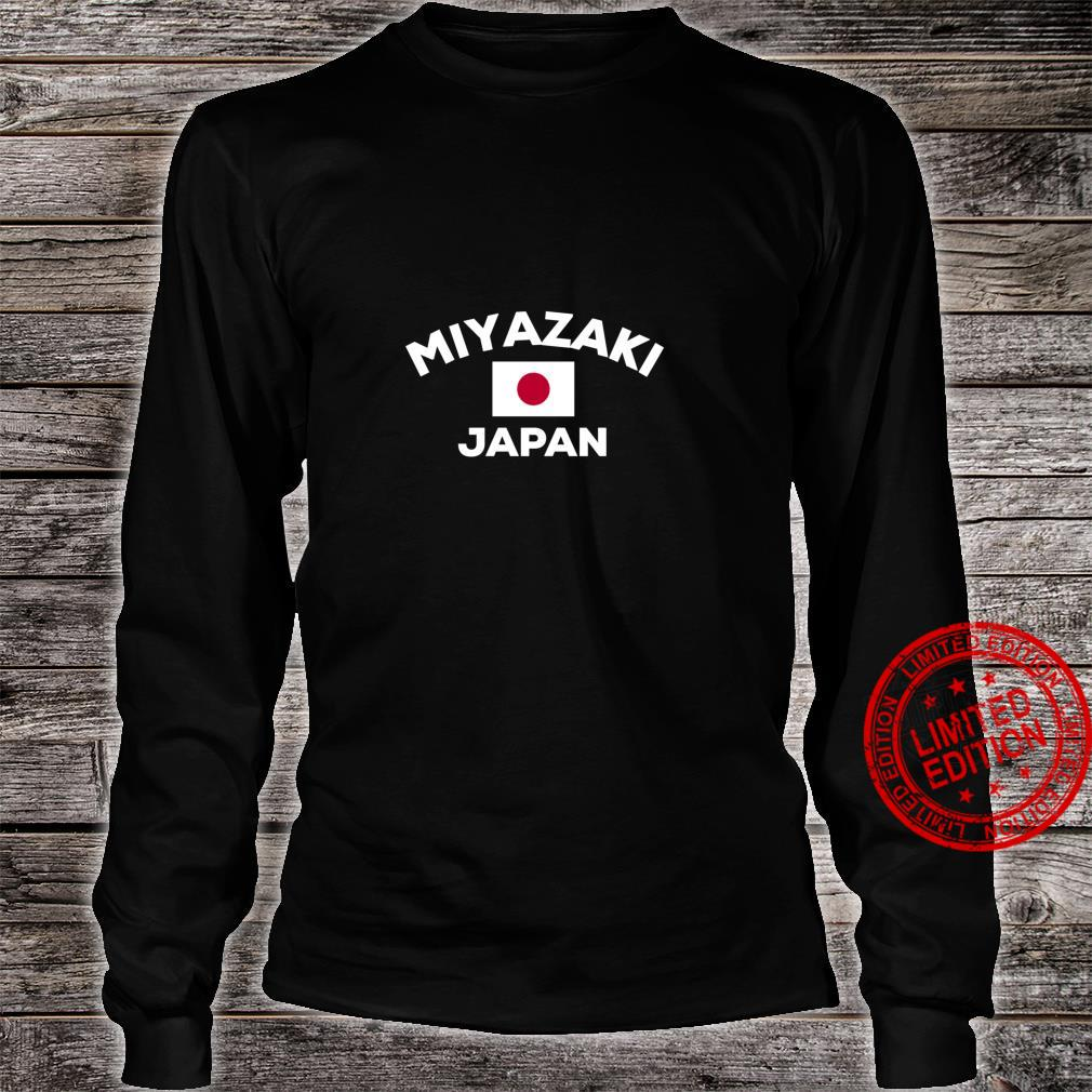 Miyazaki Japan Japanese Flag City Country Shirt long sleeved