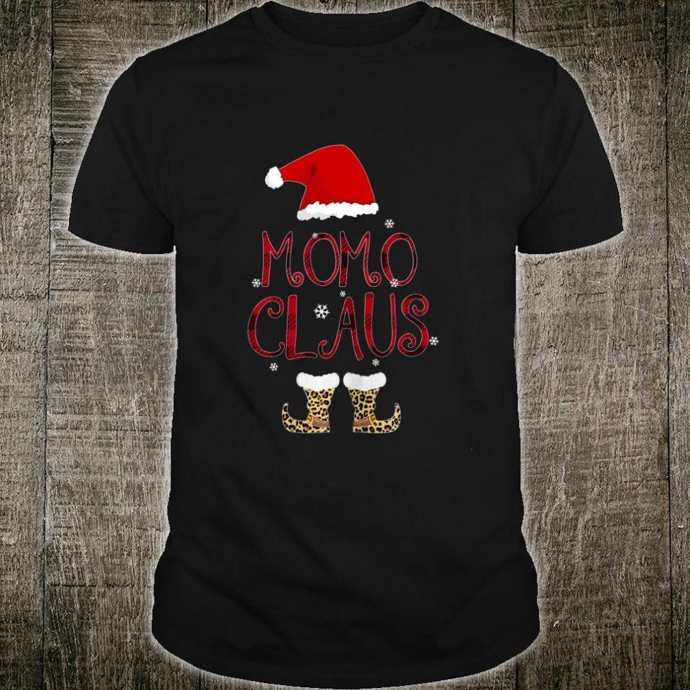 Momo Claus Leopard Christmas Pajama Santa For Mom Shirt