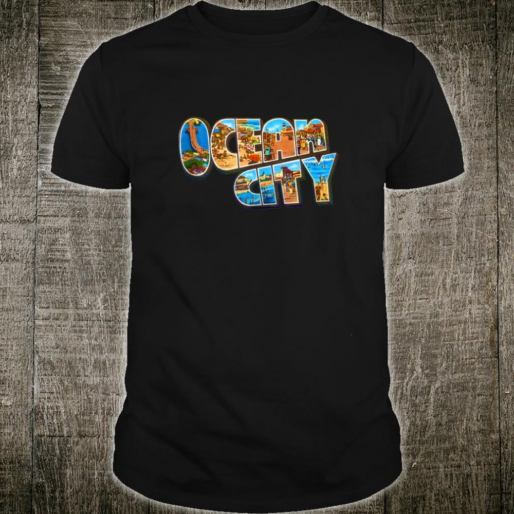 Ocean City New Jersey NJ Vintage Retro Souvenir Shirt