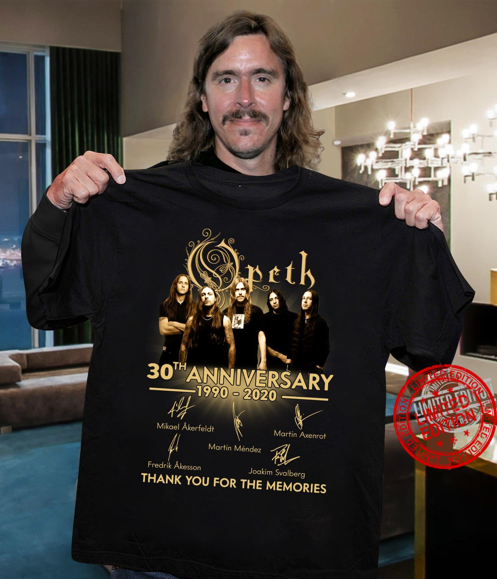 Opeth 30th Anniversary 1990-2020 Thank You For The Memories Shirt
