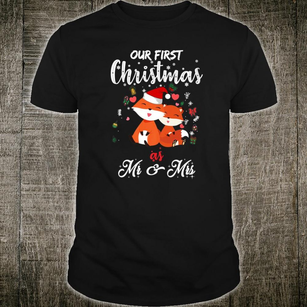 Our First Christmas As Mr And Mrs 2020 For Santa Cats Shirt