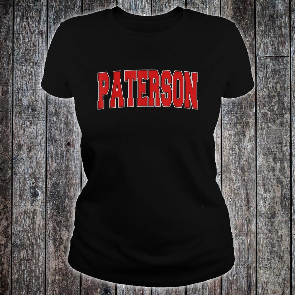 PATERSON NJ NEW JERSEY Varsity Style USA Vintage Sports Shirt ladies tee