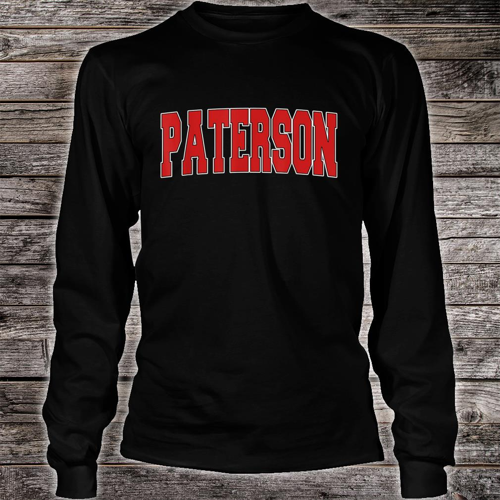 PATERSON NJ NEW JERSEY Varsity Style USA Vintage Sports Shirt long sleeved