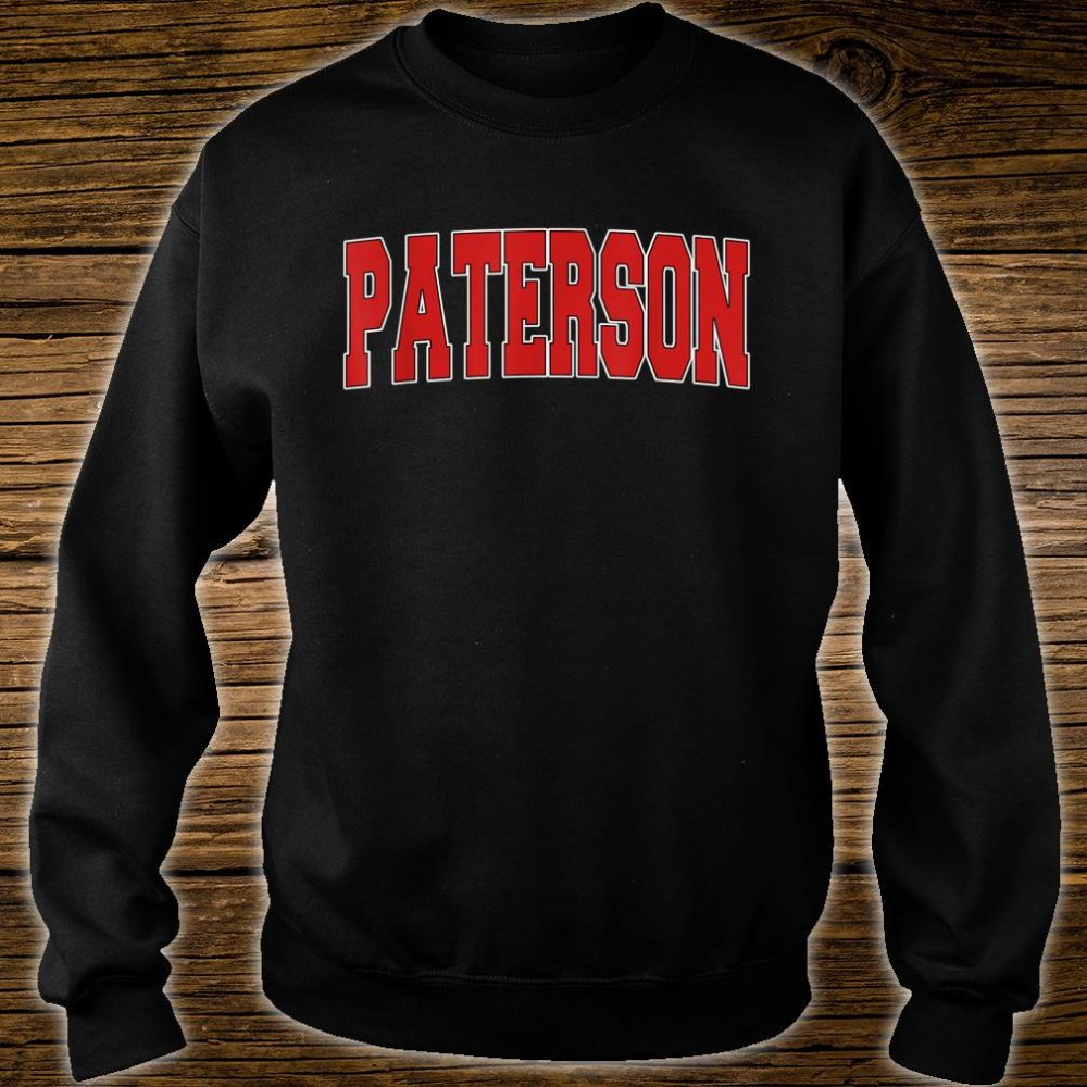 PATERSON NJ NEW JERSEY Varsity Style USA Vintage Sports Shirt sweater