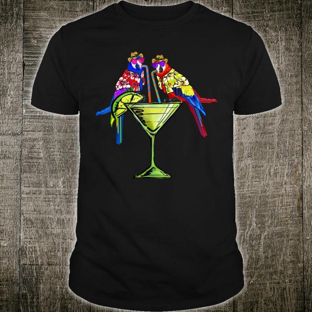 Parrots Drinking Margarita Hawaiin Birds Holiday Shirt