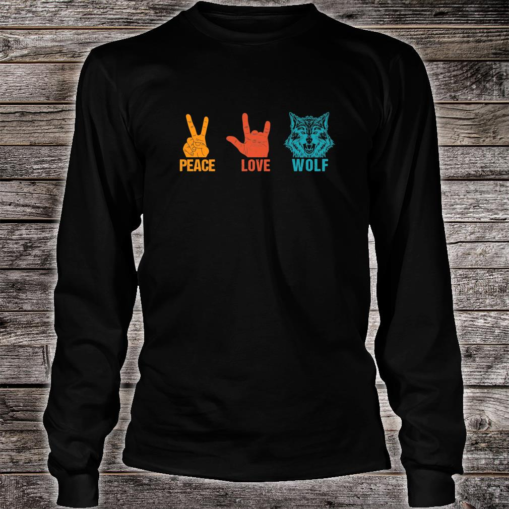 Peace Love Wolf Vintage Wolf Costume For Wolvess Shirt long sleeved