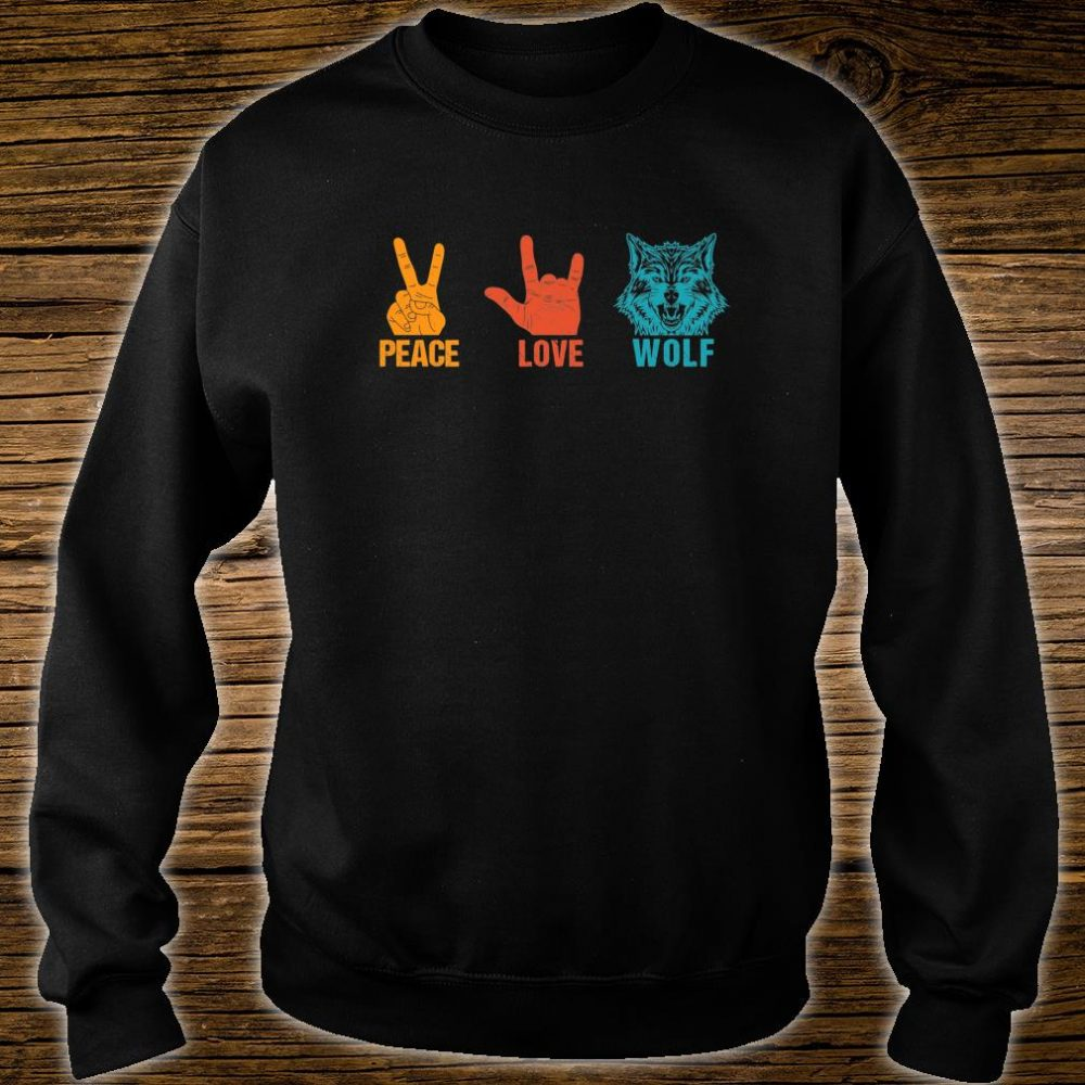 Peace Love Wolf Vintage Wolf Costume For Wolvess Shirt sweater