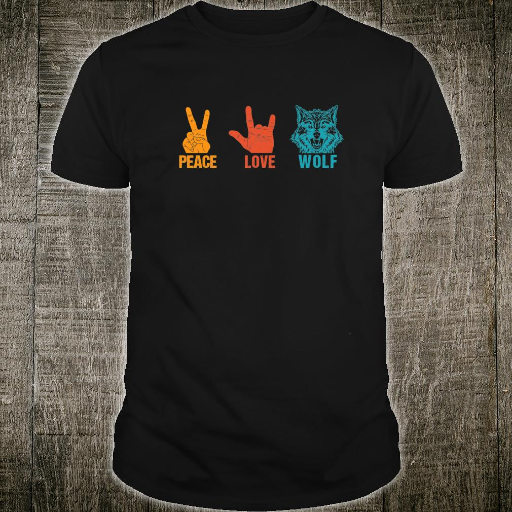 Peace Love Wolf Vintage Wolf Costume For Wolvess Shirt