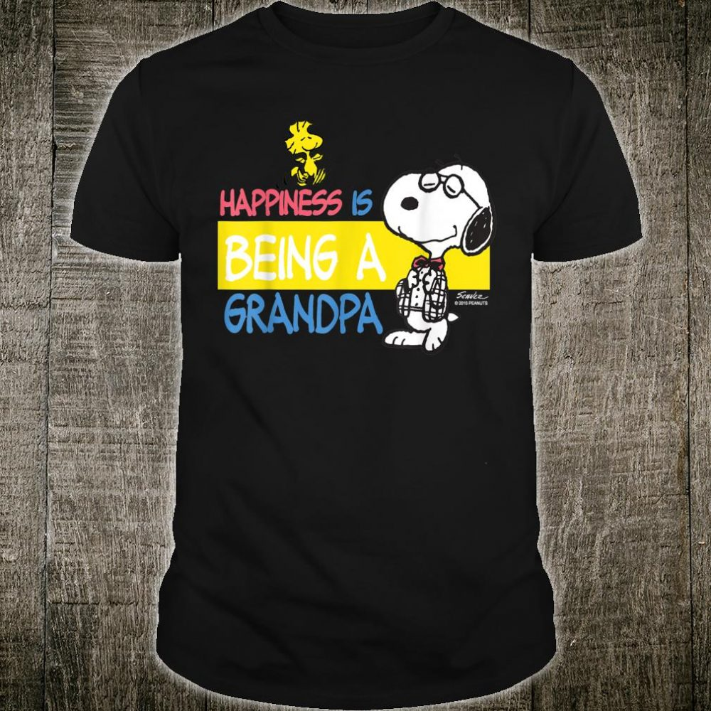 Peanuts Snoopy Happiness is Being A Grandpa Shirt