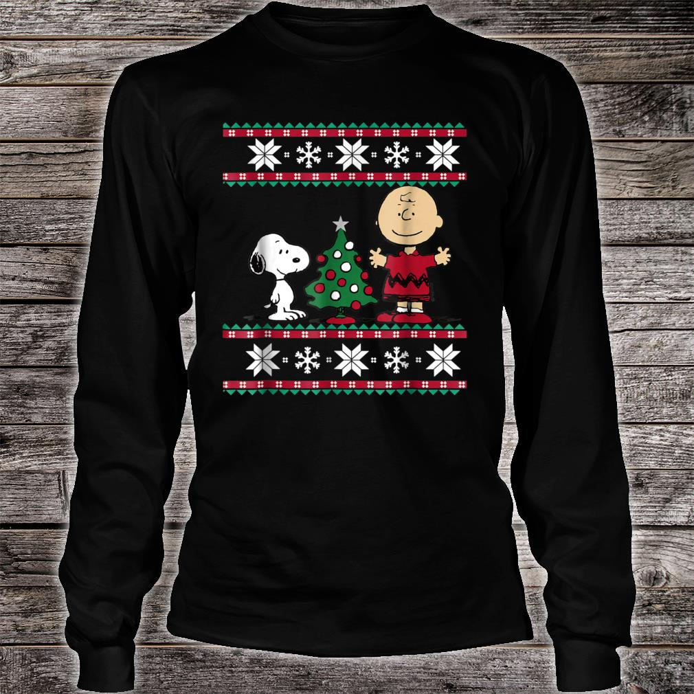 Peanuts Snoopy and Charlie Christmas Shirt long sleeved