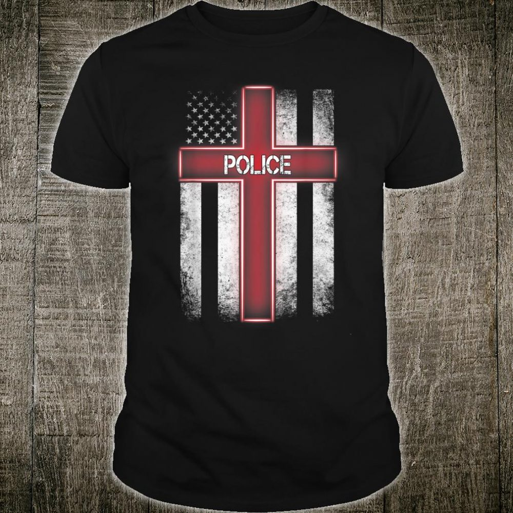 Police American Flag Christmas Xmas For Police Shirt