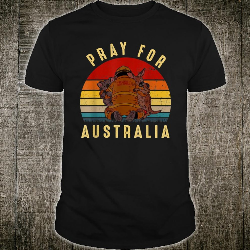Pray for Australia Vintage Support Wildlife Shirt