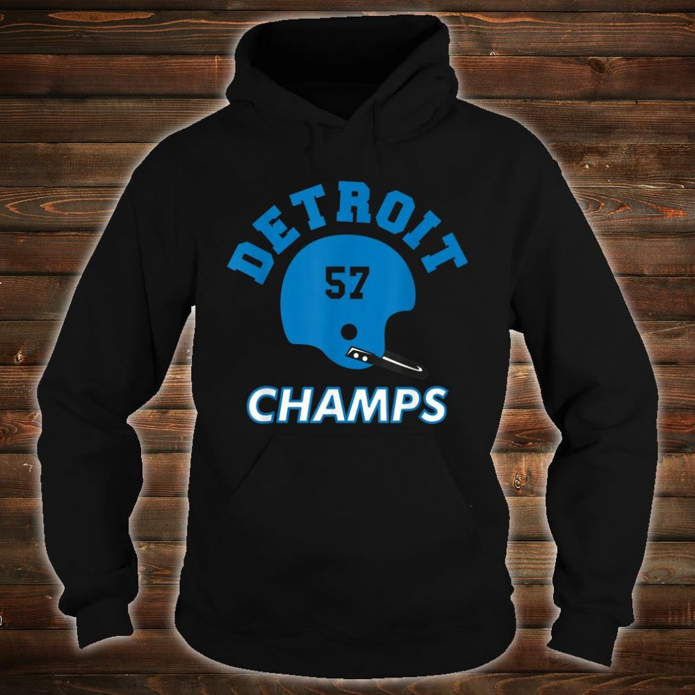 Retro Detroit Football Helmet Vintage DET 57 Champs Shirt hoodie