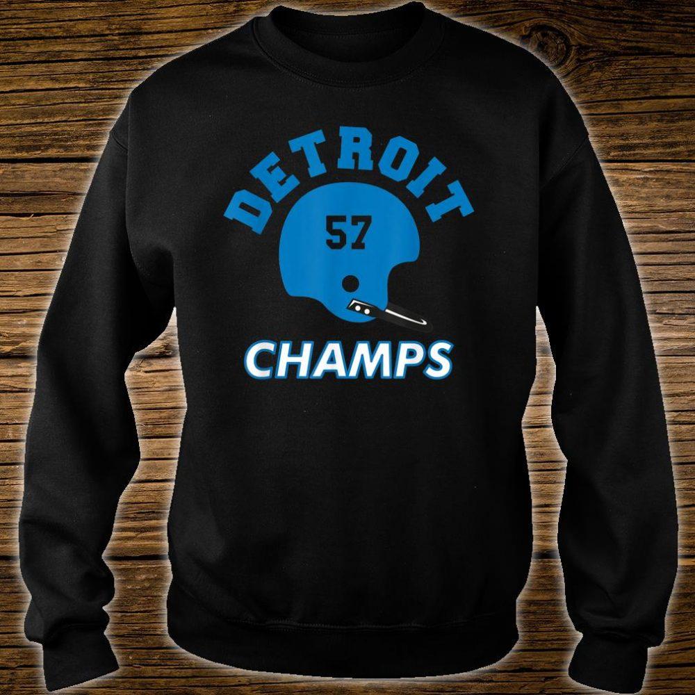 Retro Detroit Football Helmet Vintage DET 57 Champs Shirt sweater