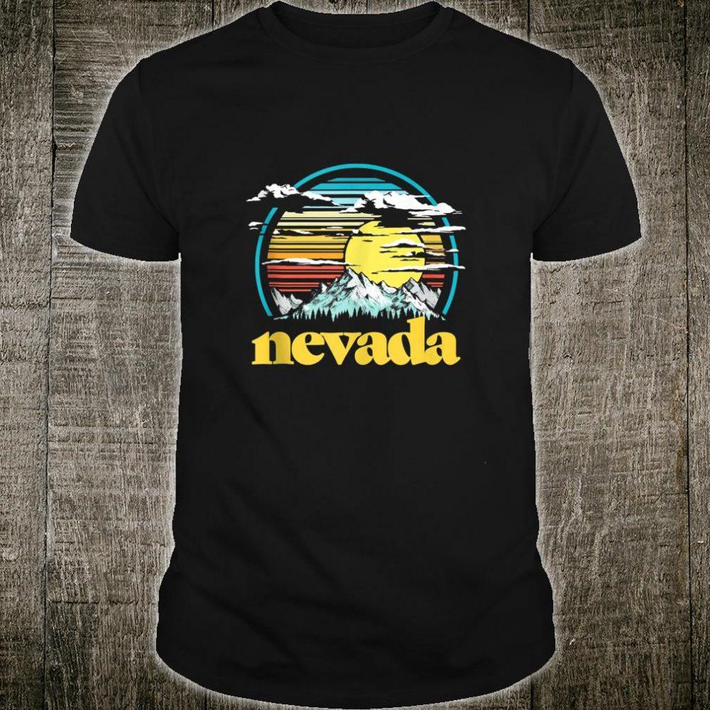 Retro Nevada Vintage 80s Style Mountains & Sun Shirt
